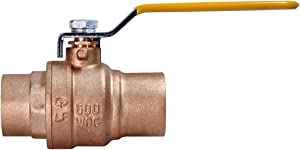 MIDLINE VALVE 822C234 Lead Free Full Port Forged Brass Ball Valve with Solder Cups, 1/2''