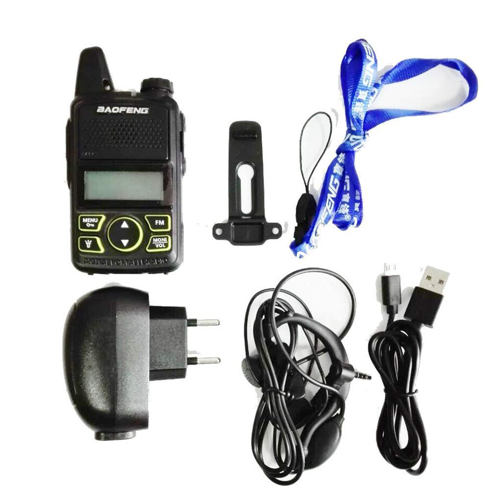 Yuly Two Way Radio BF-T1 Walkie Talkie UHF 400-470mhz 20CH Portable Ham FM CB Radio Handheld Transceiver 2pcs/lot BAOFENG T1 Mini by Yuly (Image #3)