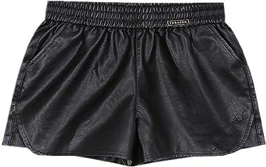 Czytn Pantalones Cortos Para Mujer En Primavera Otono Piel Sintetica Pantalones Pequenos Cintura Alta Todo Tipo De Pantalones Pantalones Sueltos Amazon Es Ropa Y Accesorios