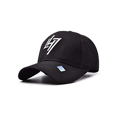 Hot Brand Baseball Cap Fitted Cap Snapback Hat for Men Bone Women Gorras Casual Casquette Letter LH7 Black Cap at Amazon Womens Clothing store: