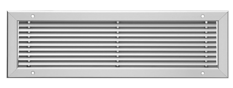 Linear-Lamellengitter Aluminium 400 x 100 mm Lüftungsgitter