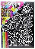 Kreative Kids Colourful Velvet Felt Art Picture Colouring Set For Children ~ Butterfly