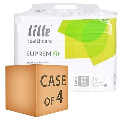 Lille Healthcare - Pañales para adulto (20 unidades, tamaño maxi, 3580 ml,