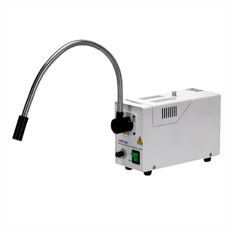 AmScope Single Fiber Gooseneck Microscope Illuminator 150W