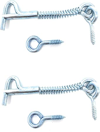 Hillman Hardware Essentials 851928 Safety Hook and Eye Latch Zinc 2-1//2