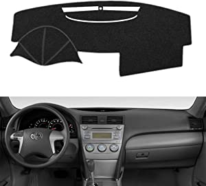 SAILEAD Car Dashboard Carpet,Dash Board Cover Mat Fit for Toyota Camry 2007,2008,2009,2010,2011 (Black)