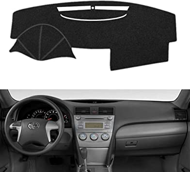 Non-Slip Dash Mat Cover for Toyota Camry 2018 Black Dashboard Carpet Mat Protect