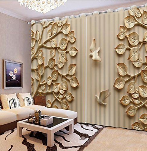 Sproud 3D Printing Curtains Room Decorations Blackout Cortians Beautiful Full Light Shading Bedroom Curtains 240Dropx300Wide(Cm) 2 pieces by Sproud