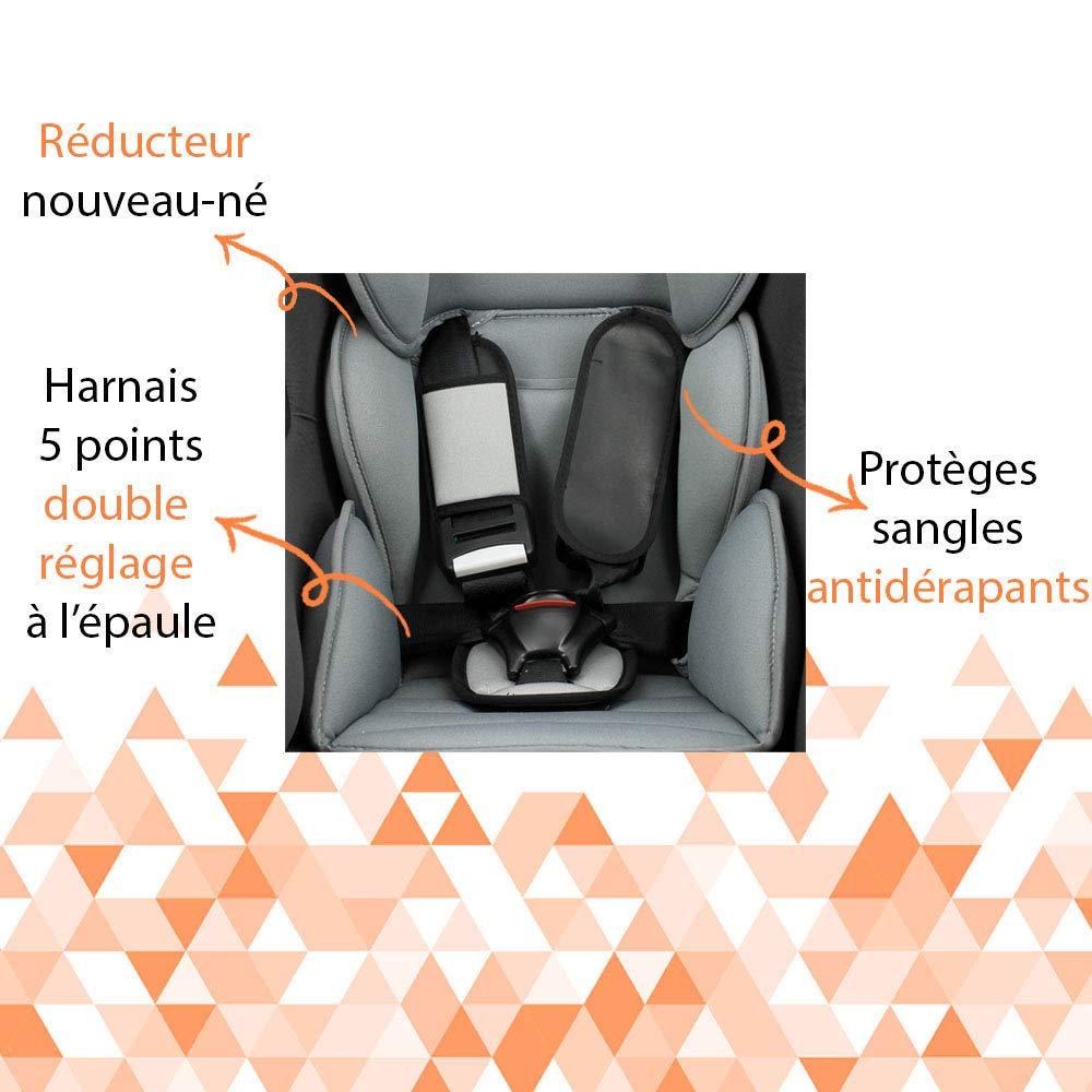 mycarsit Autositz von 0/bis 18/kg Motiv Etoiles schwarzen Gruppe 0/+//1/