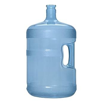 Brio 5 Gallon Plastic Crown Cap Reusable Water Bottle Container
