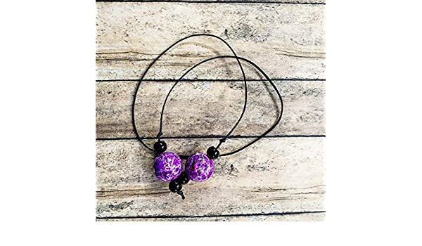 Book Thong Style Purple and Orange Beaded Bookmark