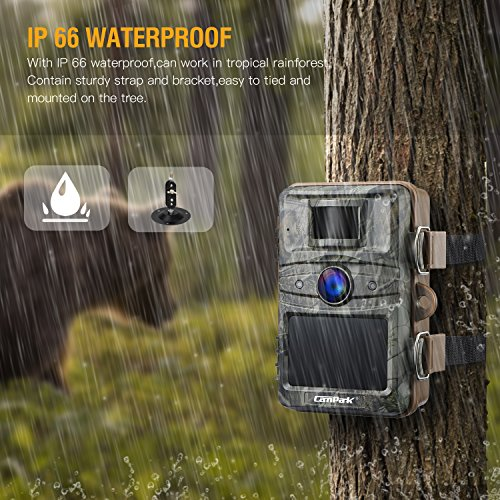 Campark T70 Trail Game Camera No Glow Night Vision 14MP 1080P Outdoor Hunting Cam Security Motion Activated Camera with 2.4 LCD and IP66 Waterproof Battery Powered