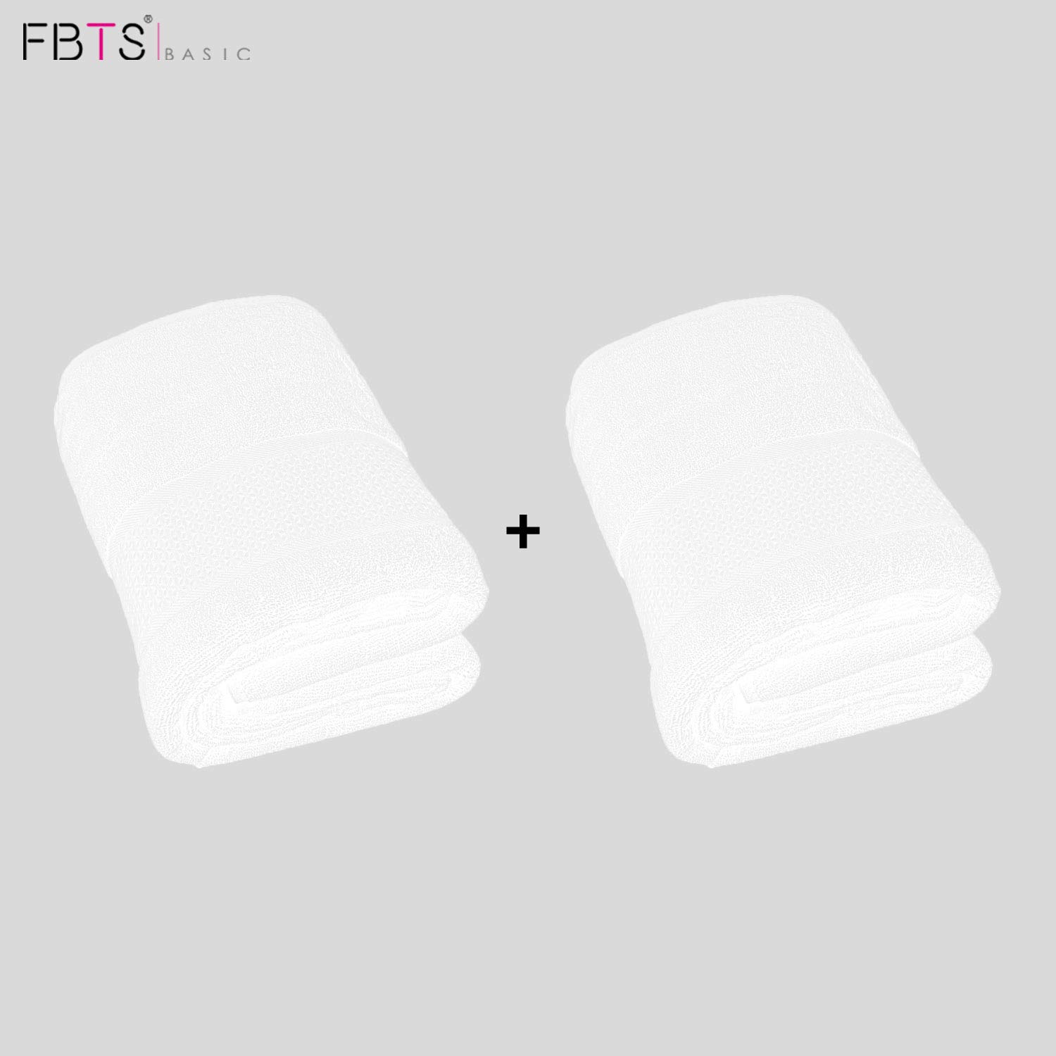 FBTS Basic Towel Sets Combination (Beige, 2 x Washcloths, 2 x Hand Towel, 2 x Bath Towel) 6 Pieces Highly Absorbent Extra Soft Professional Grade Five-Star Hotel Quality Fabritones FBTS-BE-6S