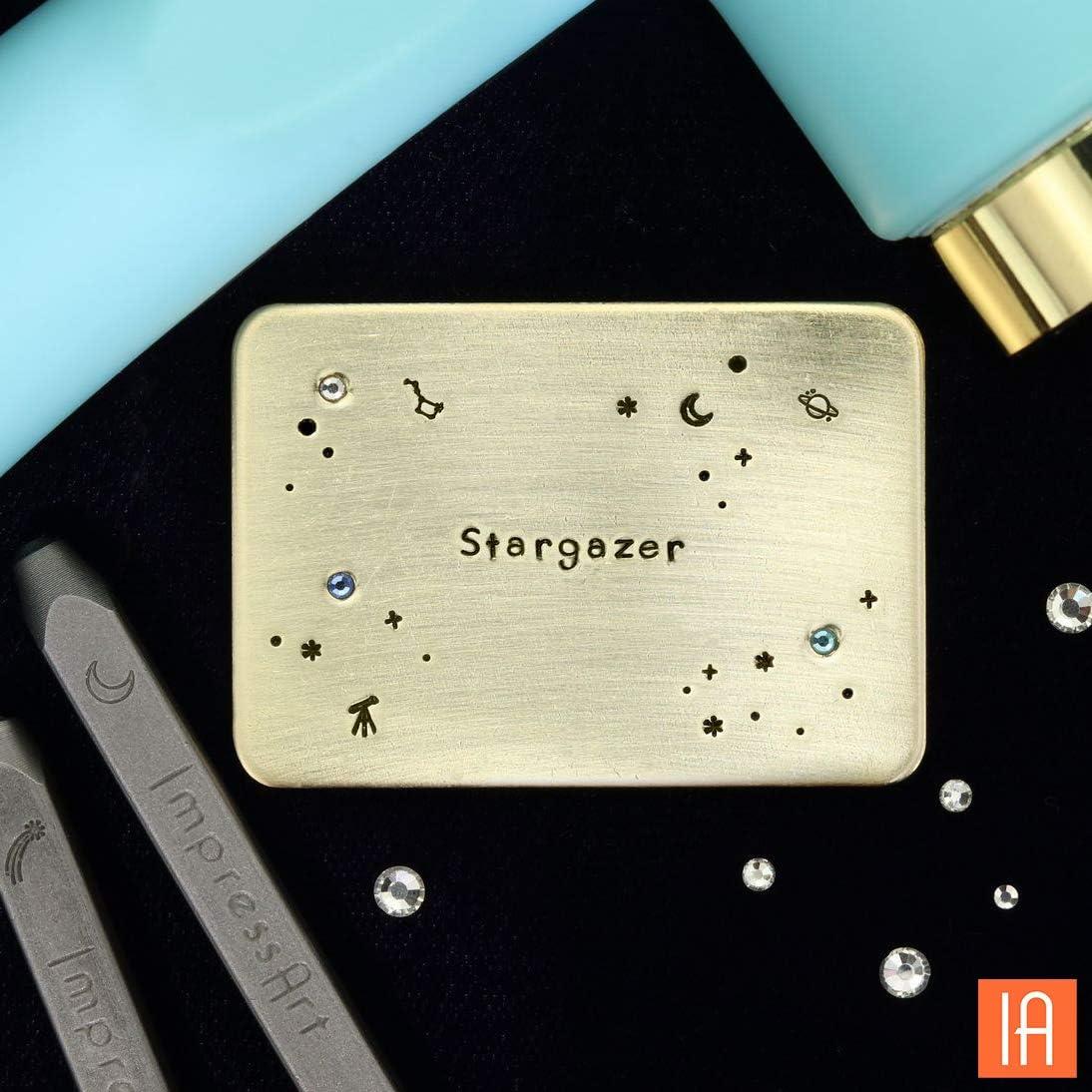 ImpressArt Signature Stargazer Uppercase Letter Metal Stamp Set 2mm