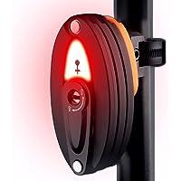 AOOKEY Cadenas Pliable avec lumière arrière vélo LED Rechargeable Cadenas de Vélo Antivol avec Support, 85cm, 3 clés, Noir