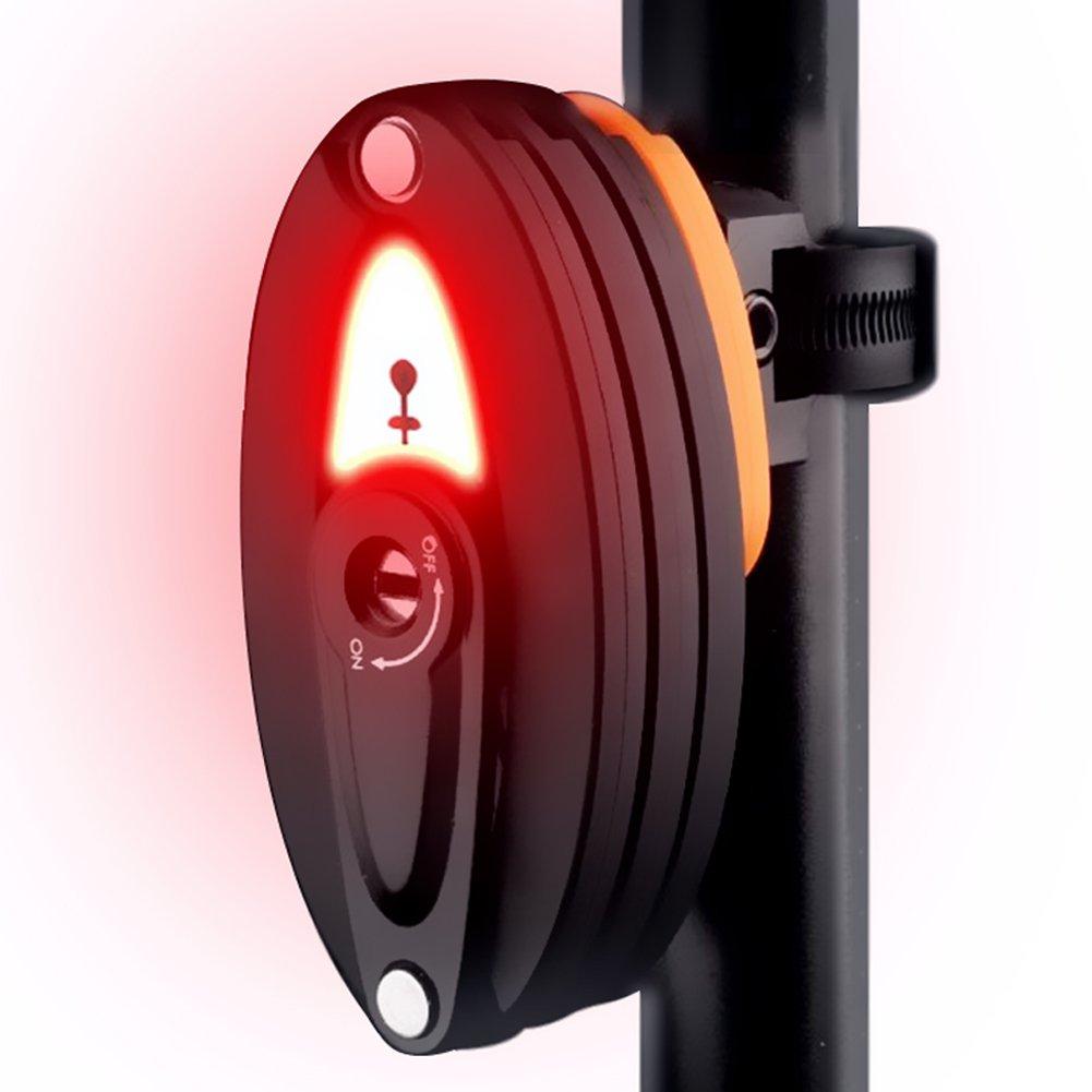 AOOKEY Candado de Bicicleta Plegable con luz led Trasera USB Recargable Bicicleta con Soporte, 85cm, Negro Yooyee Direct