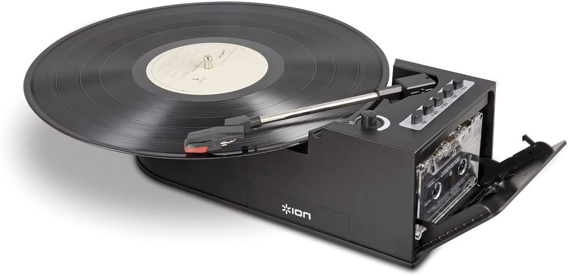 Amazon.com: Ion it34 Duo Deck Ultra-portátil Tocadiscos USB ...