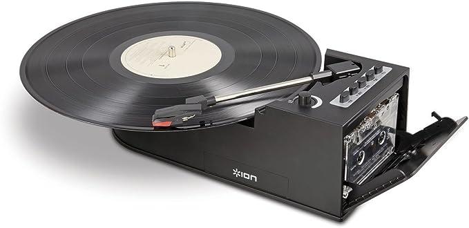 ION Audio Duo Deck Negro - Tocadiscos (Negro, 33 1/3,45,78, USB ...