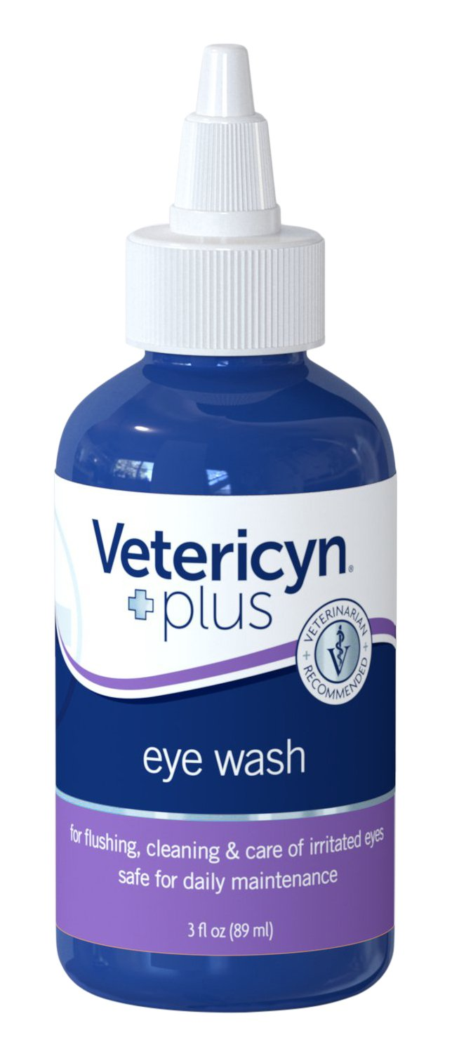 Vetericyn Plus All Animal Eye Wash | Eye Drops for Dogs and Cats – Relieves Eye Redness and Irritations from Allergies – Tear Stain Cleaner – 3-ounce