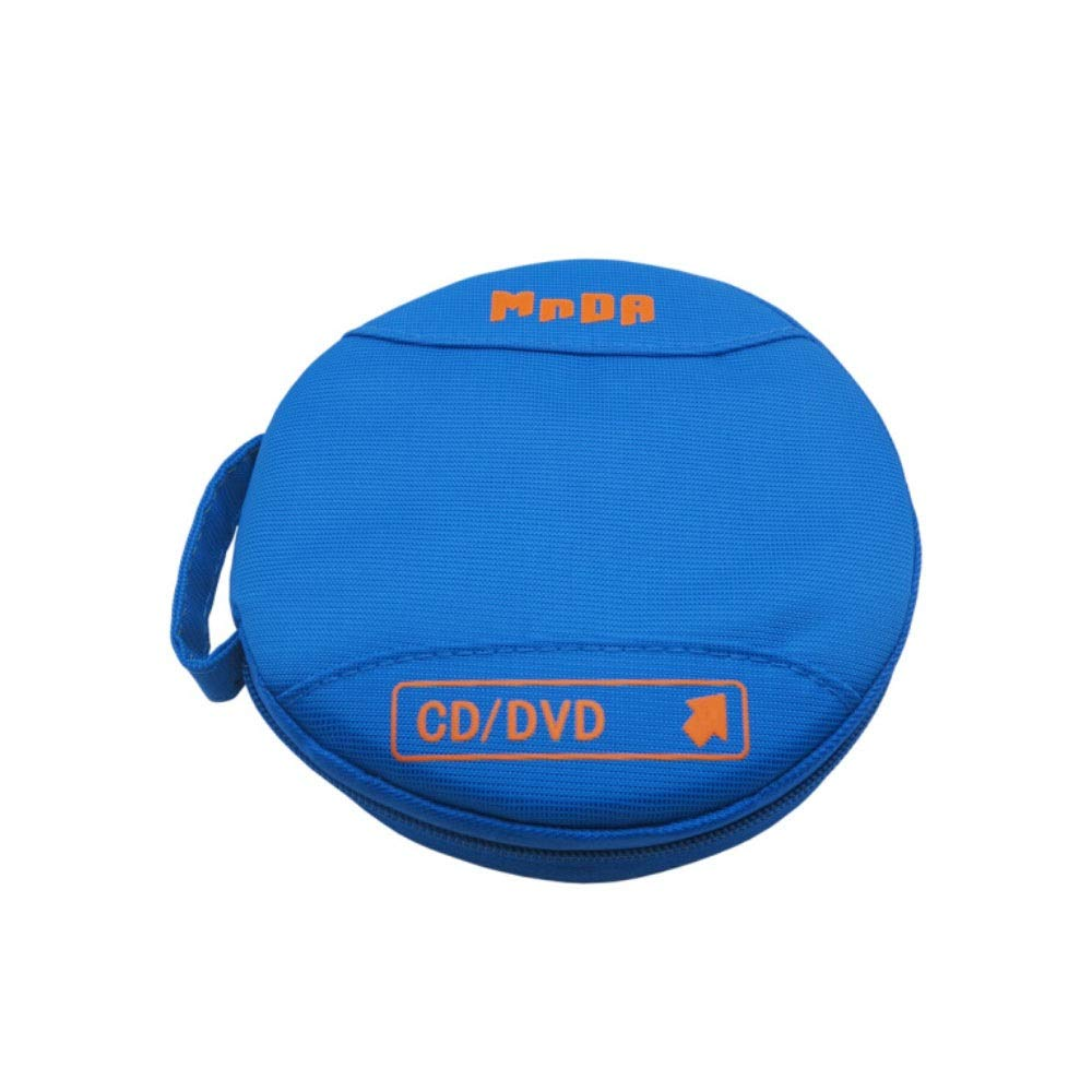 QINRUIKUANGSHAN Fashion Waterproof CD, Dedicated 24 Piece CD/DVD Storage Bag, Sky Blue Car CD Package (Color : Blue) by QINRUIKUANGSHAN