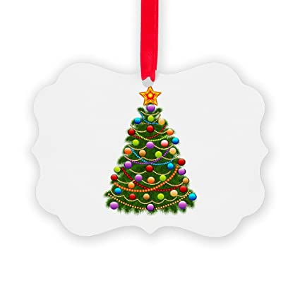 picture ornament 2 sided elegant christmas tree and ornaments - Elegant Christmas Ornaments