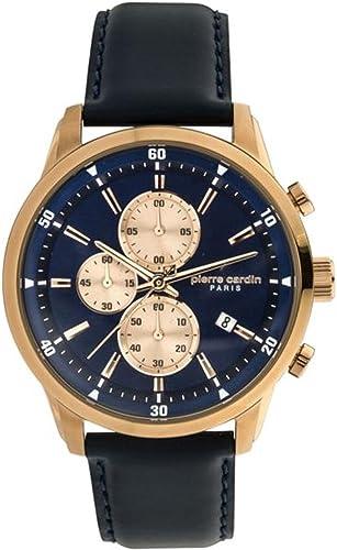 Pierre cardin orologio cronografo quarzo uomo con cinturino in pelle pc902321f04