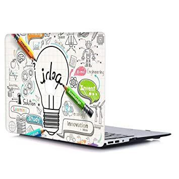 AQYLQ Funda Dura para MacBook Air 13 Pulgadas (A1369 / A1466), Ultra Delgado Carcasa Rígida Protector de Plástico Cubierta - Bombilla Idea