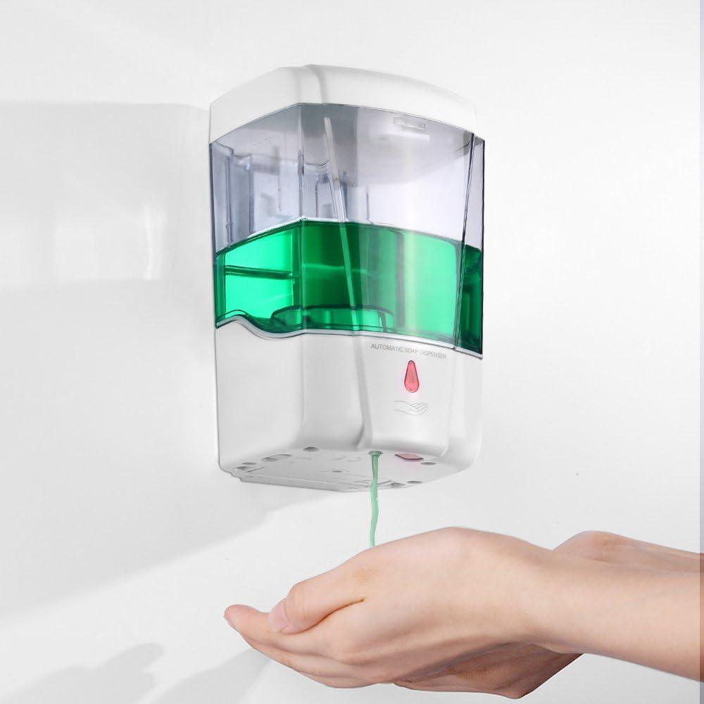 Dispenser per Disinfettante per Le Mani Touchless DeeCozy Dispenser Sapone Automatico Dispenser di Sapone Automatico Toccare fissato al Muro Pompa Home Office Ospedale Hotel Restaurant 700ml