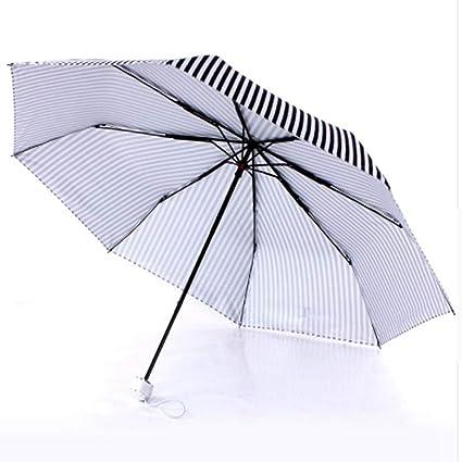 LUOJIN Paraguas Paraguas De Zigzag Rayas En Blanco Y Negro ...
