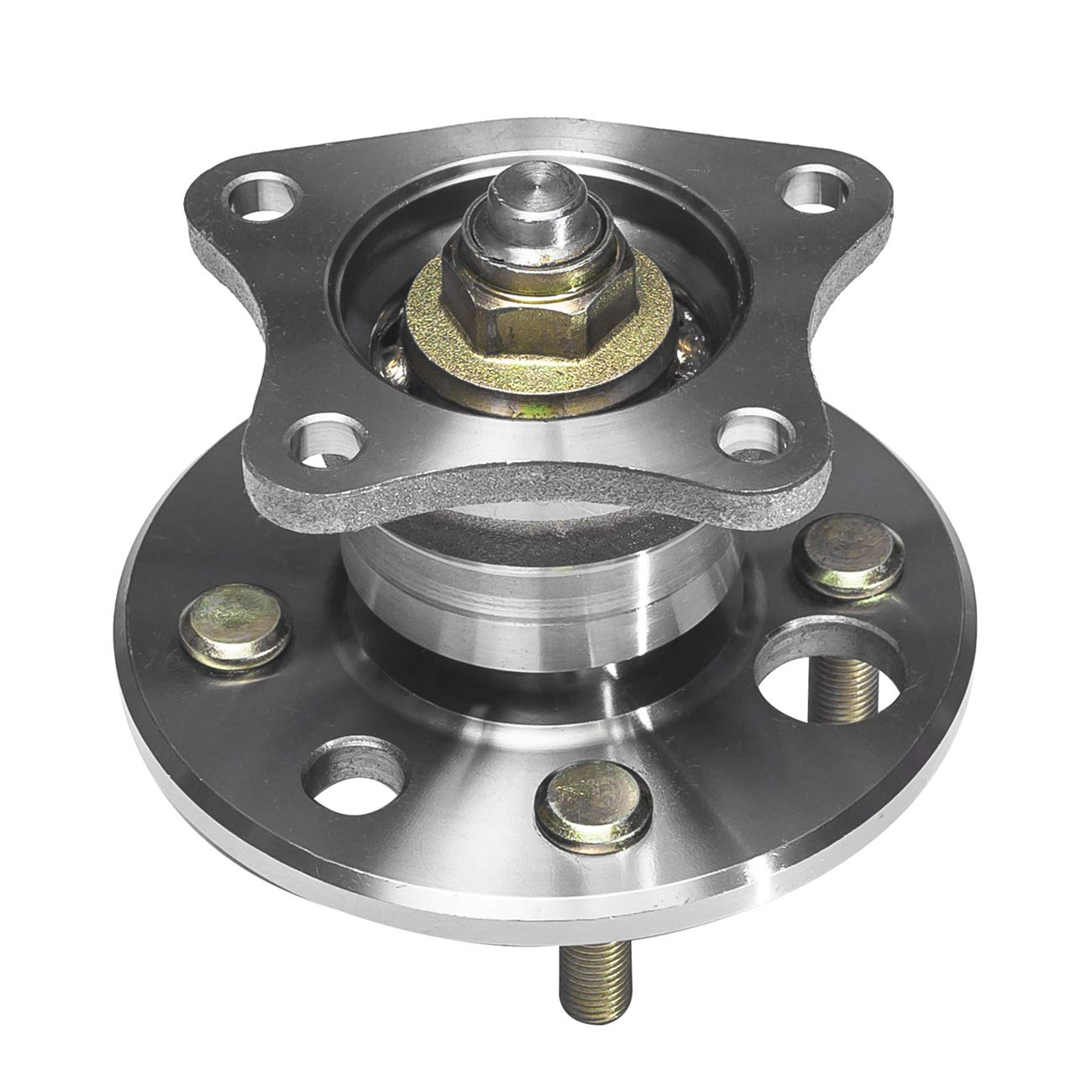 TUCAREST 512018 Rear Wheel Bearing and Hub Assembly Compatible 1998-2002 Chevrolet Prizm 93-97 Geo Prizm 93-02 Toyota Corolla FWD 4 Lug Non-ABS