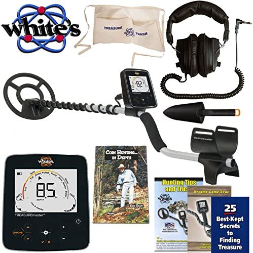 Whites Treasuremaster Metal Detector Waterproof Search Coil, Headphones, Apron, Scoop and Books