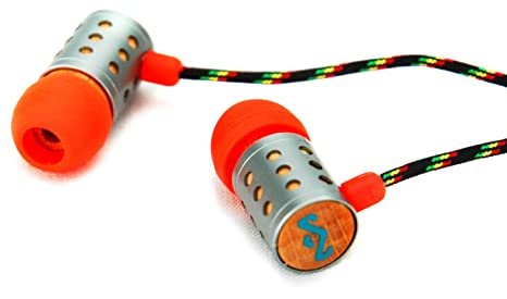 House of Marley EM-JE021-SU Midnight Ravers - Jammin' In-Ear Headphone with 1-Button Mic - Sun Headphones at amazon