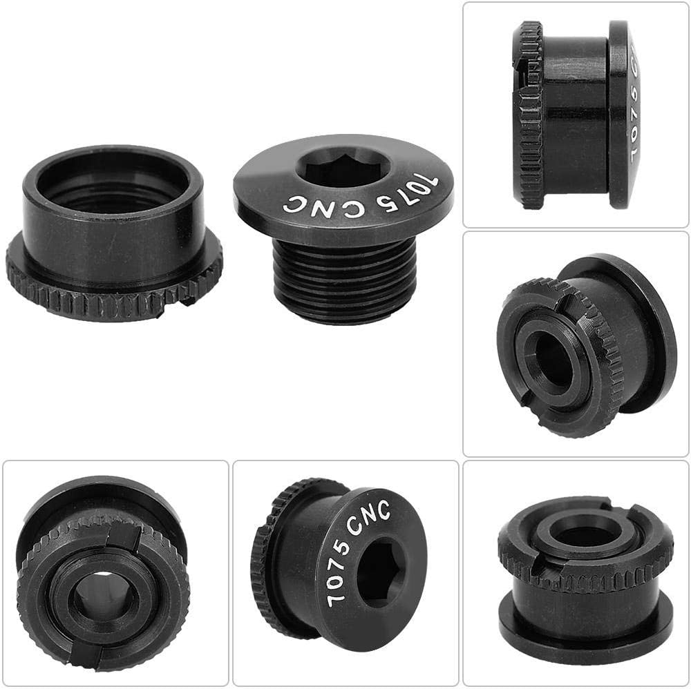 Crank Bolts Aluminum Alloy Crankset Single Chainring Bolts and Nuts For Outdoor Mountain Road Bicycle