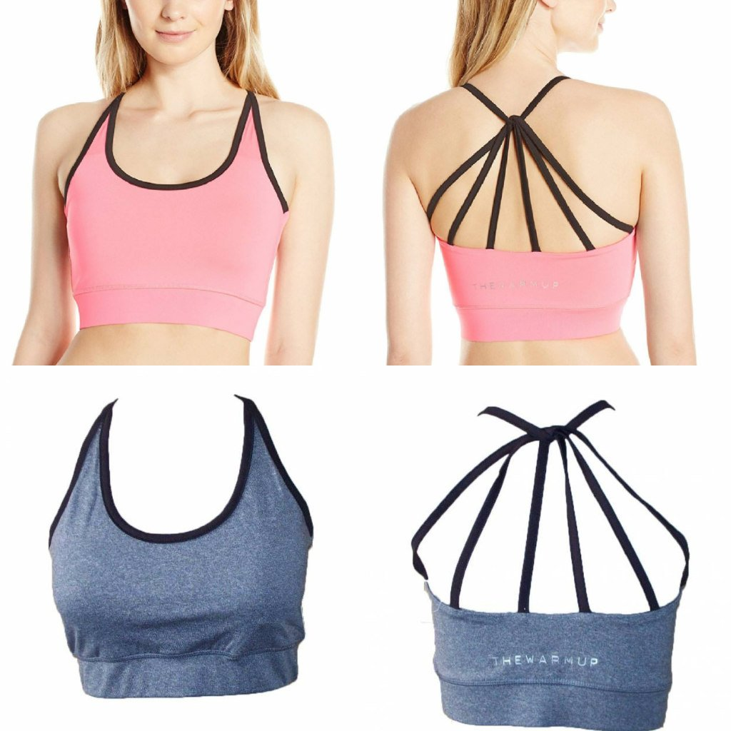 9740929817 The Warm Up by Jessica Simpson Junior s Strappy High Impact Padded Sports  Bra with Contrast Criss-Cross Piping at Amazon Women s Clothing store