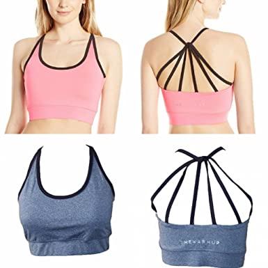 a0edcfa754a48 By Jessica Simpson 2 Pack - The Warm Up Junior s Strappy High Impact Padded  Sports Bra