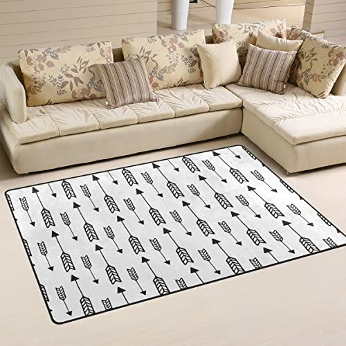 Sunlome Classic Arrows Pattern Area Rug Rugs Non-Slip Indoor Outdoor Floor Mat Doormats for Home Decor 31 x 20 inches