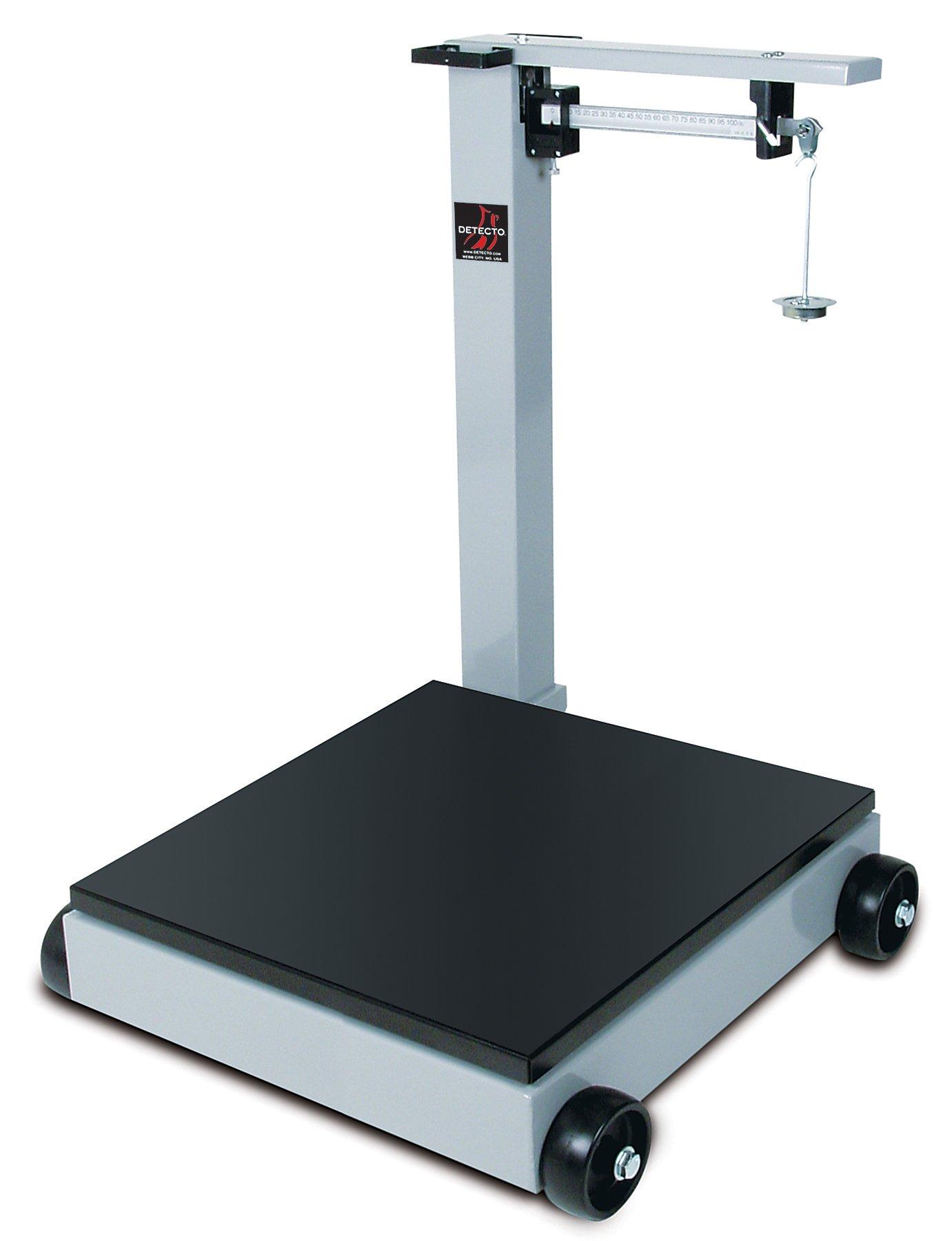 Detecto 954F100P Portable Mechanical Floor Scales, 2,000 lb. Capacity, 28'' x 28''
