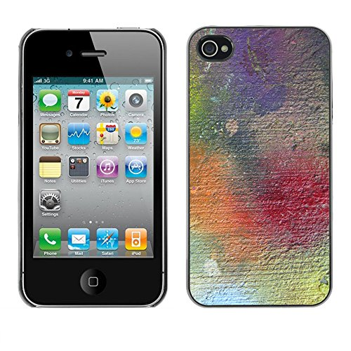 Premio Sottile Slim Cassa Custodia Case Cover Shell // V00001946 Texture Grunge // Apple iPhone 4 4S 4G