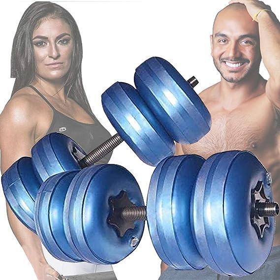 manubri da fitness regolabili per braccia interne ed esterne ZESHIZE set di manubri per uomini e donne manubri da viaggio imbottiti ad acqua