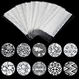 21 Sheet White Lace Flower Nail Art Sticker Water Transfer Nails Wrap Paint Tattoos Stamper Plates Templates Tools Tips Kits Cute Popular Xmas Christmas Winter Holiday Stick Tool Vinyls Decals Kit