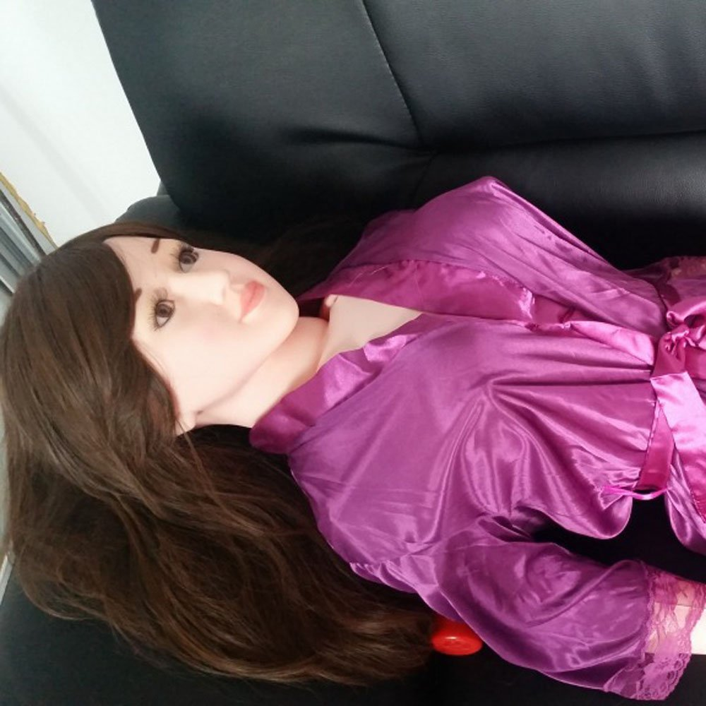 Chasti_ty Infla-Table Doll 160cm Semi-Solid Silicone Doll Fun Not with Clothes Hair