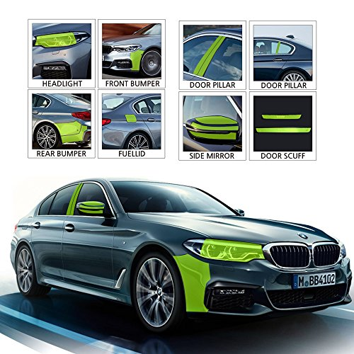 Healing Shield, Compatible with BMW 2018 All New 520d Invisible Protector Paint Scratch Protective Film FUEL TANK DOOR - 1 PCS Protection Sticker film for cars by Healing Shield