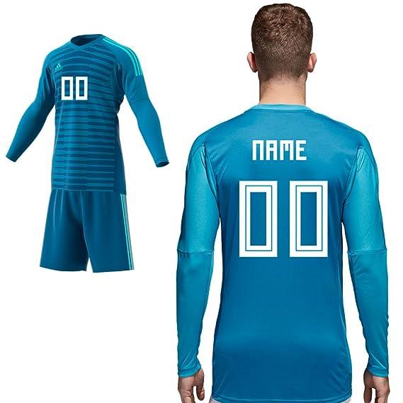 adidas Home Match Torwarttrikot Blau Saison 2018 2019 Herren Kinder Spieler Name