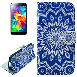 Sunflowers Pattern Horizontal Leather Case Funda Flip Cover para Samsung, Holder Galaxy S5 mini/G800