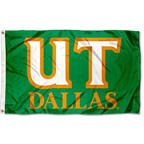 College Flags and Banners Co  UT Dallas Comets Flag