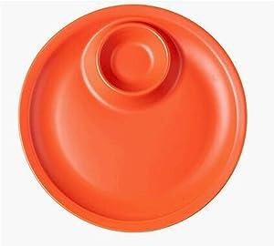 WSXEDC Household Dumpling Plate Ceramic Dumpling Plate with Vinegar Plate Sushi Plate Vegetable Plate Dividing Plate, Suitable for Dumpling, Snack, and Other Food Dumpling plate