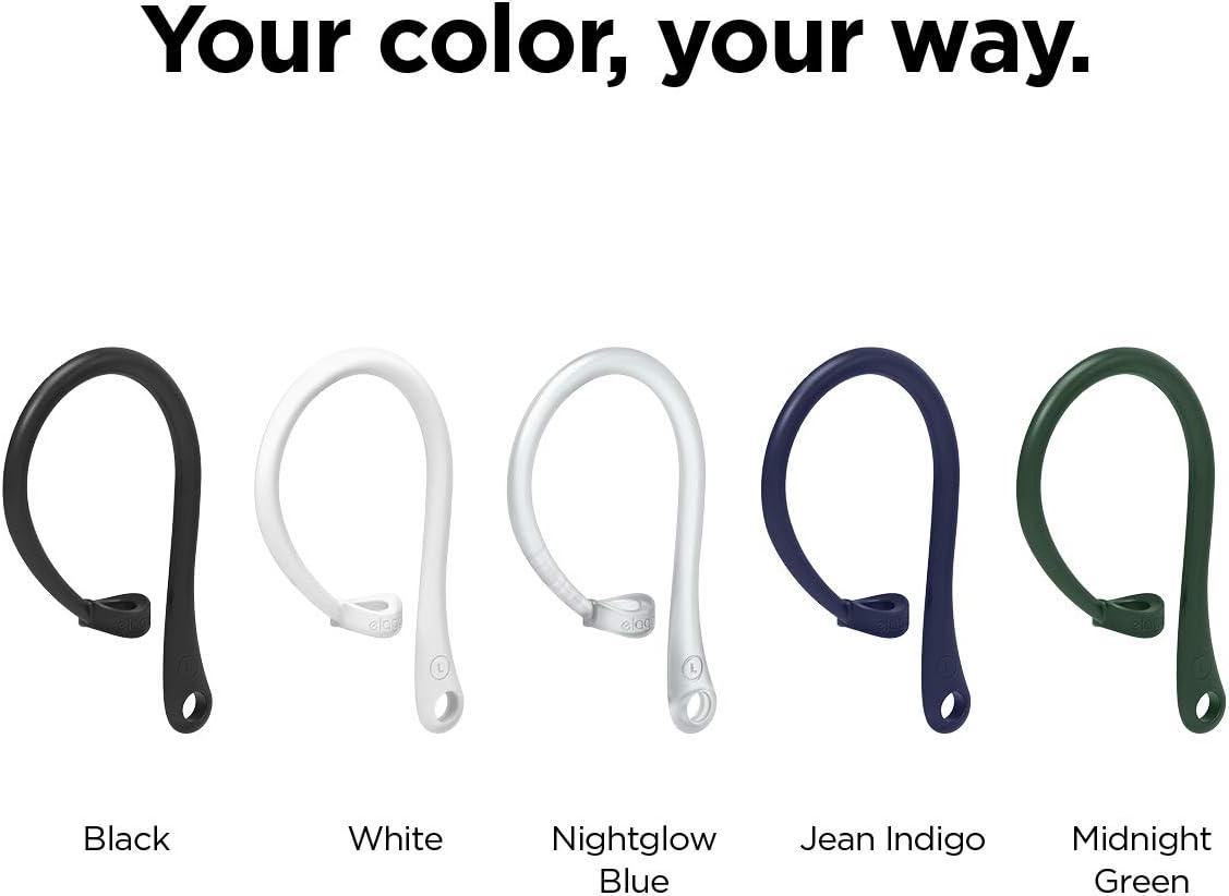 Verde Noche US Patente Registrado elago Ear Hooks Gancho de Oreja AirPods Pro Dise/ñado para Apple AirPods Pro y AirPods 1 /& 2
