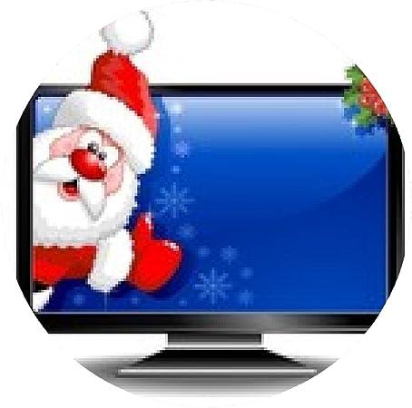 my-puzzle-design alfombrilla de ratón Santa de dibujos animados en la pantalla del monitor de la computadora-TV de Santa Claus: Amazon.es: Electrónica