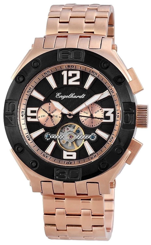 Engelhardt Herren-Armbanduhr XL Analog Automatik Edelstahl 389431028004