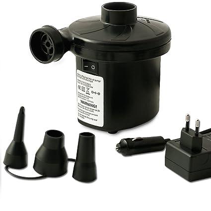 Amazon.com: Bomba de aire eléctrica inflador de cama ...